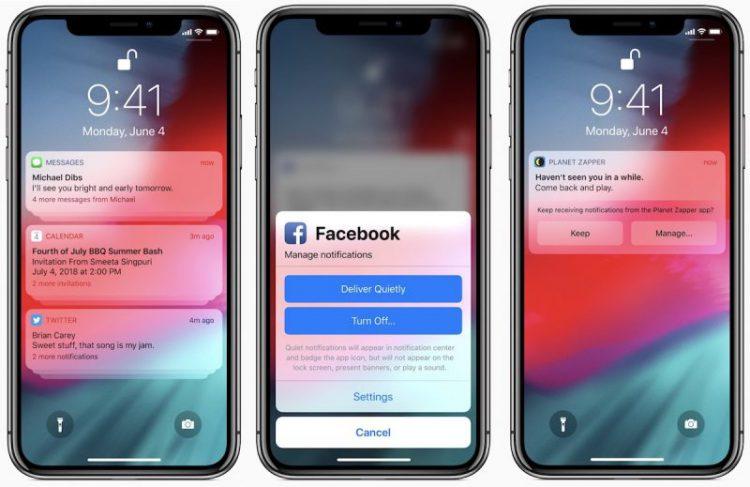 iOS-12-notifications visual engineering