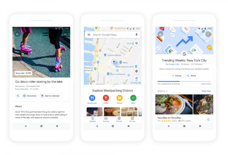 google io 2018 google maps explorar